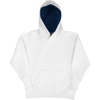 textil Barn Sweatshirts Sg SG24K Vit/marinefärgad