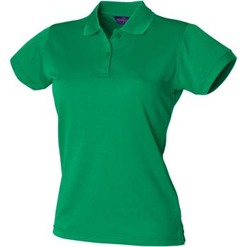 textil Dam Kortärmade pikétröjor Henbury Coolplus Kelly Green