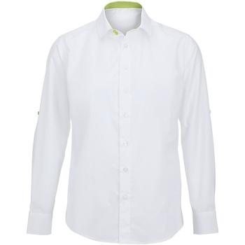 textil Herr Långärmade skjortor Alexandra Hospitality Vit/ Lime