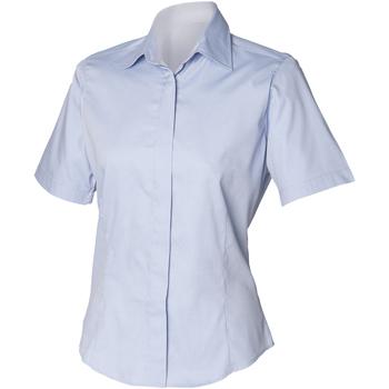 textil Herr Kortärmade skjortor Henbury HB556 Ljusblå