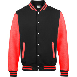textil Herr Vindjackor Awdis JH043 Jet Black/ Fire Red