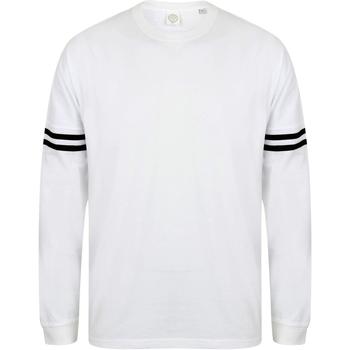 textil Herr Långärmade T-shirts Skinni Fit Slogan Vita / svarta ränder