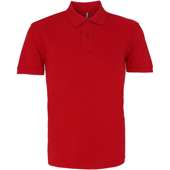 textil Herr Kortärmade pikétröjor Asquith & Fox AQ010 Kardinalröd