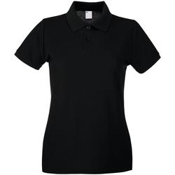 textil Dam Kortärmade pikétröjor Universal Textiles 63030 Jet Black