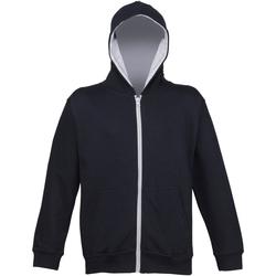 textil Barn Sweatshirts Awdis JH53J Ny fransk marinblått/lädergrått