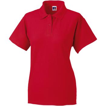 textil Dam Kortärmade pikétröjor Jerzees Colours 539F Klassiskt röd