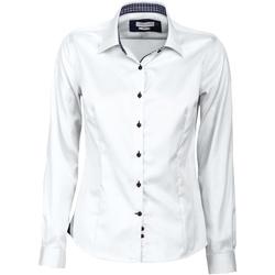 textil Dam Skjortor / Blusar J Harvest & Frost JF006 Vitt/blått