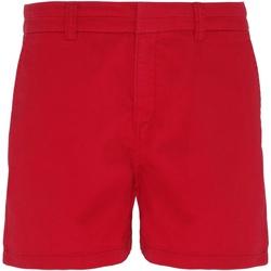 textil Dam Shorts / Bermudas Asquith & Fox AQ061 CherryRed