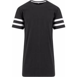 textil Herr T-shirts Build Your Brand BY032 Svart/vit