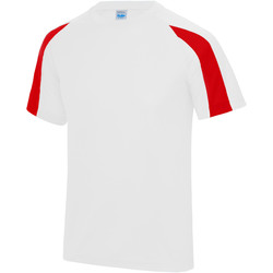 textil Herr T-shirts Just Cool JC003 Arctic White/Fire Red