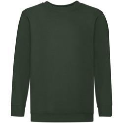 textil Barn Sweatshirts Fruit Of The Loom 62041 Flaskegrön