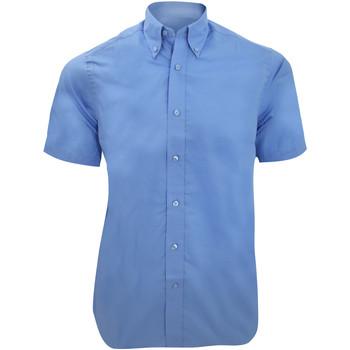 textil Herr Kortärmade skjortor Kustom Kit KK385 Ljusblå