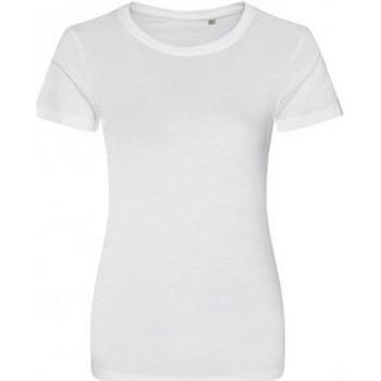 textil Dam T-shirts Ecologie EA01F Arctic White