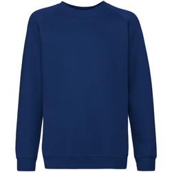 textil Barn Sweatshirts Fruit Of The Loom 62033 Marinblått