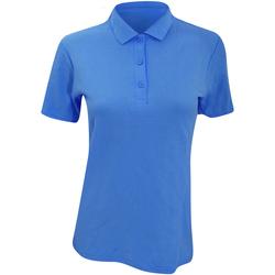 textil Dam Kortärmade pikétröjor Anvil 6280L Pool Blue
