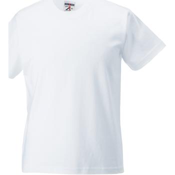 textil Barn T-shirts Jerzees Schoolgear ZT180B Vit