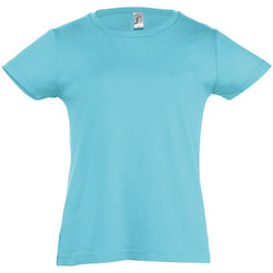 textil Flickor T-shirts Sols Cherry Blå atollen