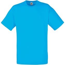textil Herr T-shirts Fruit Of The Loom 61036 Azurblått