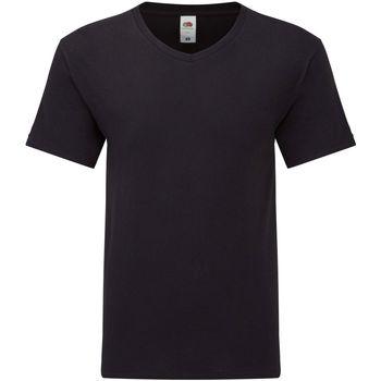 textil Herr T-shirts Fruit Of The Loom 61426 Svart
