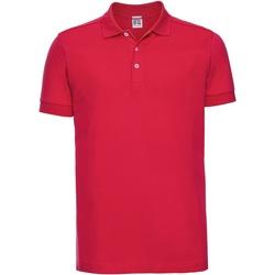 textil Herr Kortärmade pikétröjor Russell 566M Klassiskt röd