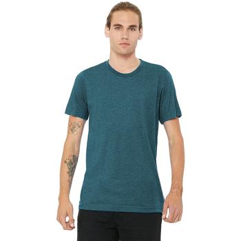 textil Herr T-shirts Bella + Canvas CA3413 Stålblått triblend