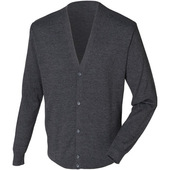 textil Herr Koftor / Cardigans / Västar Henbury HB722 Grå marl