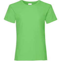 textil Flickor T-shirts Fruit Of The Loom Valueweight Lime