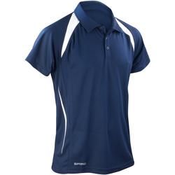 textil Herr Kortärmade pikétröjor Spiro S177M Marinblått/vit