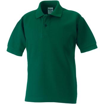 textil Pojkar Kortärmade pikétröjor Jerzees Schoolgear 539B Flaskegrön