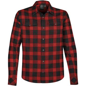 textil Herr Långärmade skjortor Stormtech Logan Svart/röd ruta