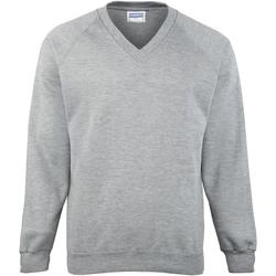 textil Herr Sweatshirts Maddins MD02M Grå Oxford