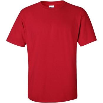 textil Herr T-shirts Gildan Ultra Körsbärsröd