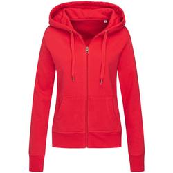 textil Dam Sweatshirts Stedman  Crimson Red