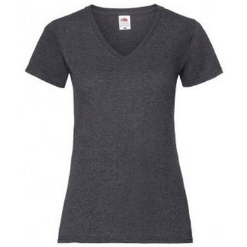 textil Dam T-shirts Fruit Of The Loom 61398 Mörk ljung