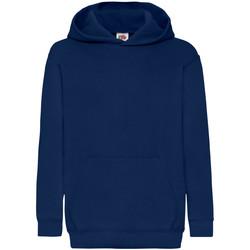 textil Barn Sweatshirts Fruit Of The Loom 62043 Marinblått