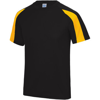 textil Herr T-shirts Just Cool JC003 Svart/ Guld