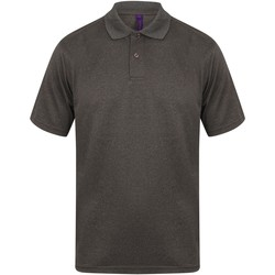 textil Herr Kortärmade pikétröjor Henbury HB475 Lätt kolgrönt