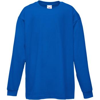 textil Barn Långärmade T-shirts Fruit Of The Loom 61007 Kungliga