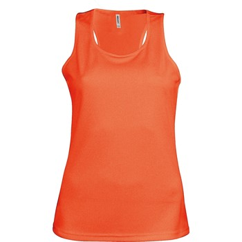 textil Dam Linnen / Ärmlösa T-shirts Kariban Proact Proact Fluorescerande orange