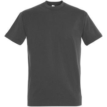 textil Herr T-shirts Sols 11500 Mörkgrå