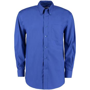 textil Herr Långärmade skjortor Kustom Kit KK105 Kunglig blå