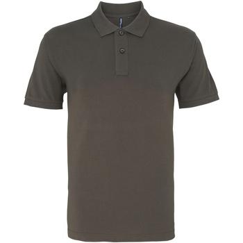 textil Herr Kortärmade pikétröjor Asquith & Fox AQ010 Skiffer
