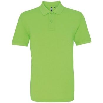 textil Herr Kortärmade pikétröjor Asquith & Fox AQ010 Neongrön