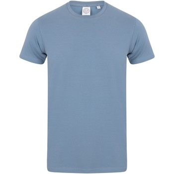 textil Herr T-shirts Skinni Fit SF121 Stenblått