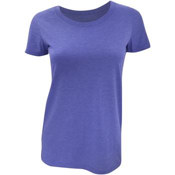 textil Dam T-shirts Bella + Canvas BE8413 Blå triblend
