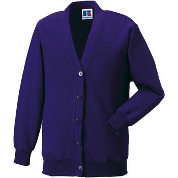 textil Barn Koftor / Cardigans / Västar Jerzees Schoolgear 273B Lila
