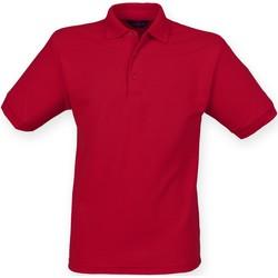 textil Herr Kortärmade pikétröjor Henbury HB400 Vintage röd