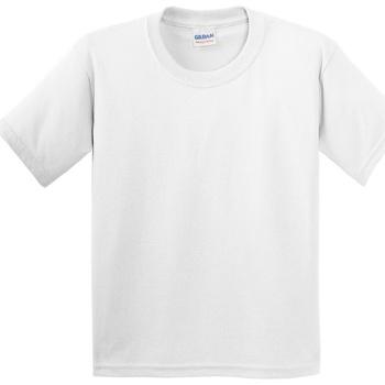 textil Barn T-shirts Gildan 5000B Vit