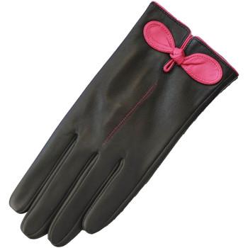 Accessoarer Dam Handskar Eastern Counties Leather  Svart/Fuchsia