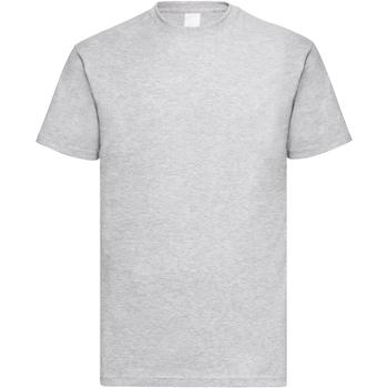 textil Herr T-shirts Universal Textiles 61036 Grå marl